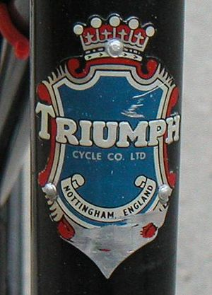 Triumph Cycle - Head badge of a Triumph bicycle
