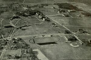 Curley Byrd - The University of Maryland campus as it appeared in 1938 before the dramatic expansion engineered by President Byrd