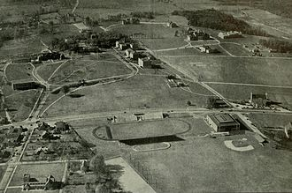 University of Maryland, College Park - The University of Maryland campus as it appeared in 1938 before the dramatic expansion engineered by President Byrd