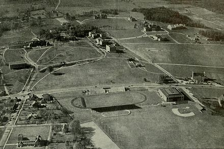 The University of Maryland campus as it appeared in 1938 before the dramatic expansion engineered by President Byrd Univ of Maryland campus 1938.jpg