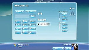 Windows Live for TV - Phone Call feature