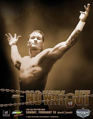 No Way Out (2006) - Promotional poster featuring Randy Orton