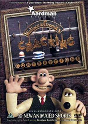 Wallace and Gromit's Cracking Contraptions - Cover art for the Cracking Contraptions R2 DVD