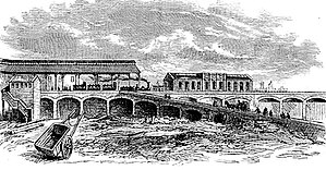 London Waterloo station - The original Waterloo station in 1848