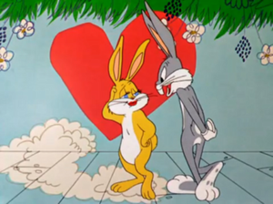 Bewitched Bunny - Witch Hazel transformed into a female bunny in the controversial scene.