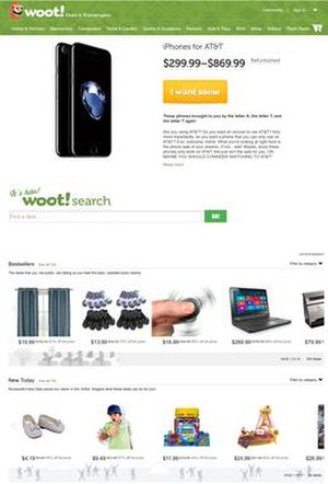 Woot - Image: Woot.com screenshot