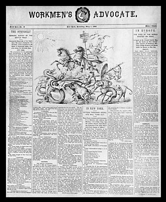 The People (1891) - The privately-owned Workmen's Advocate of the Socialist Labor Party was the direct antecedent of the party-owned broadsheet, The People.