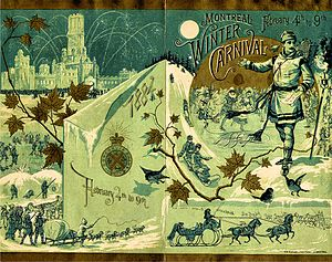 Montreal Winter Carnival ice hockey tournaments - 1884 Montreal Winter Carnival program cover