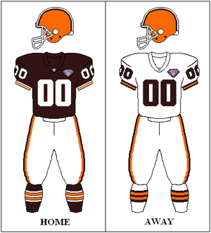 1994 Cleveland Browns season - Image: AFC Throwback 75th Uniform CLE