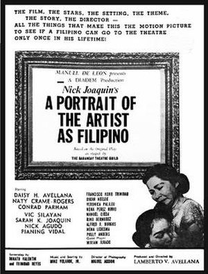 A Portrait of the Artist as Filipino - Theatrical release poster