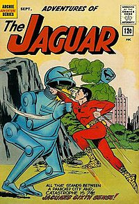 Adventures of the Jaguar 8, September 1962, by John Rosenberger, Published by Archie Comics.jpg