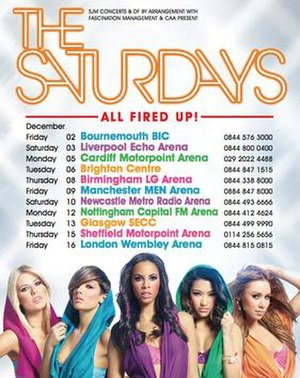 All Fired Up! (tour) - Image: All Fired Up Tour Poster