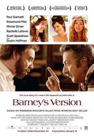 Barney's Version (film) - Film poster
