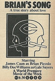 <i>Brians Song</i> 1971 television film directed by Buzz Kulik