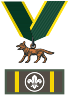 Bronze Wolf Award-knot.png