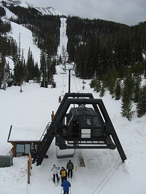 Doppelmayr USA - A CTEC chairlift at Moonlight Basin, Montana.