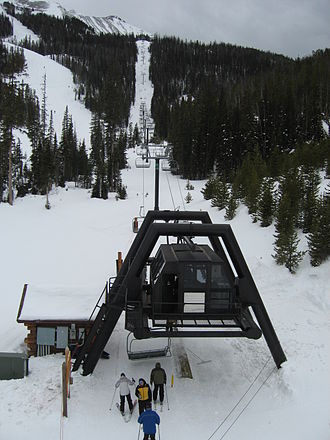 Doppelmayr USA - A CTEC chairlift at Big Sky, Montana.