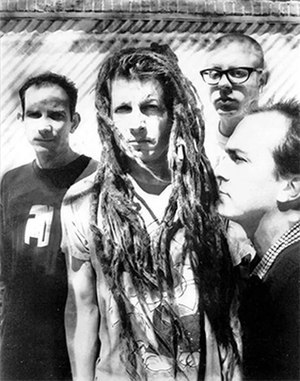 Circle Jerks - Circle Jerks, 1995.  L-R: Greg Hetson, Keith Morris, Zander Schloss and Keith Clark.