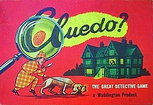 Cluedo - Cluedo 1956 UK Edition depicting a Sherlock Holmes type character.
