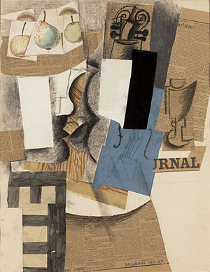Appropriation (art) - Composition with Fruit, Guitar and Glass, 1912, Pablo Picasso