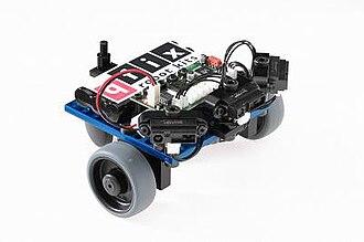"""Robot kit - """"Crash-Bobby"""" - a robot built with the qfix robot kit."""