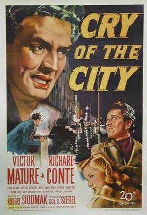 Cry of the City - Theatrical release poster