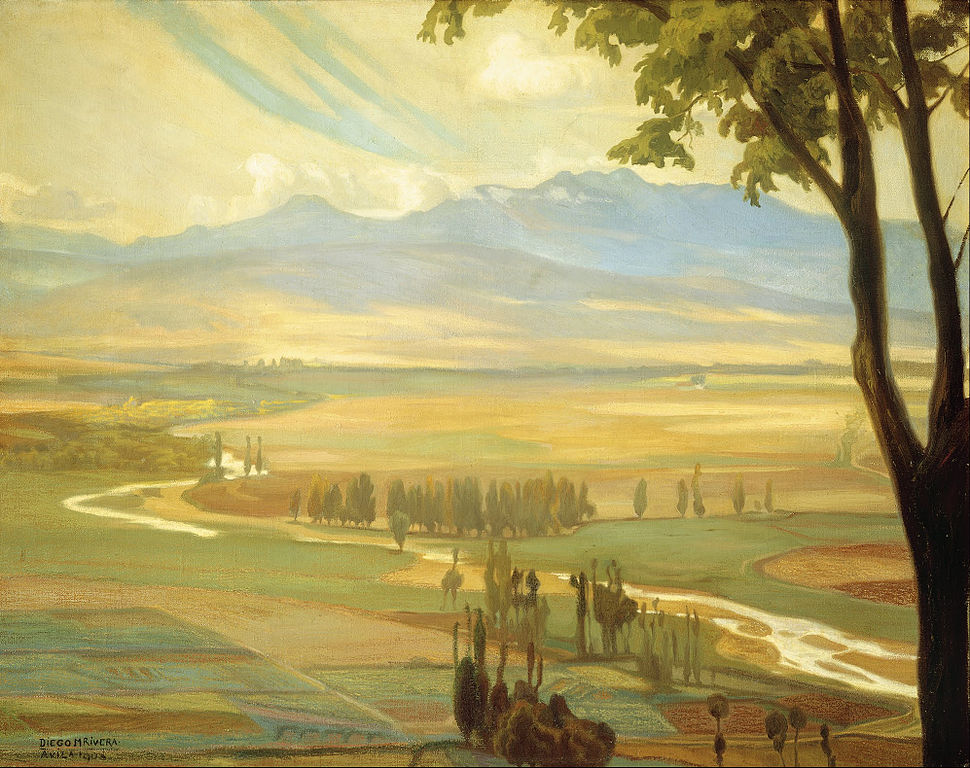 Diego Rivera - Avila Morning (The Ambles Valley) - Google Art Project