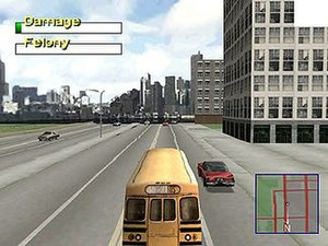 Driver 2 - Driver 2 Take A Ride screenshot in Chicago (PlayStation)