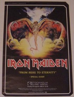 concert tour by Iron Maiden