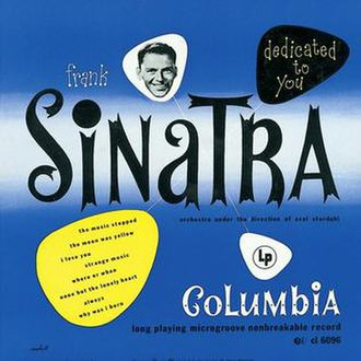 Dedicated to You (Frank Sinatra album) - Image: Frank Sinatra Dedicated to You 1950