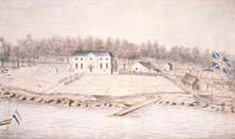 1791 in Australia - Watercolour painting of the Governor's House at Port Jackson in 1791