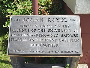 Josiah Royce - The inscription at the entrance to the library