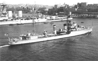 HMS Inglefield (D02) - HMS Inglefield