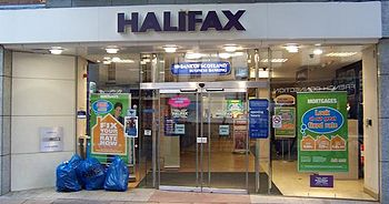 A high-street branch of the Halifax.