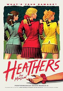 <i>Heathers: The Musical</i> a rock musical based on the 1988 film Heathers