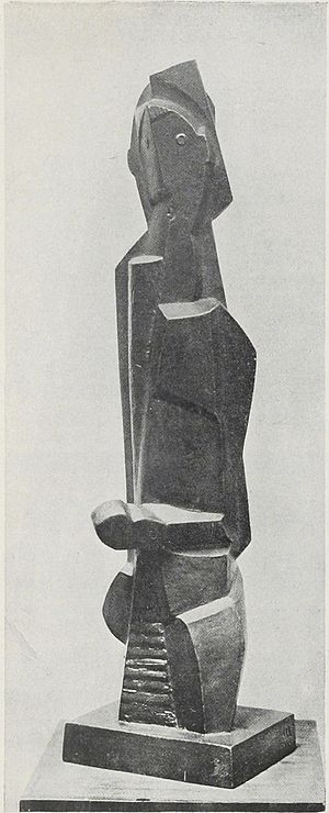 Henri Laurens - Henri Laurens, 1920, Le Petit boxeur, 43 cm, reproduced in Život 2 (1922), p 53