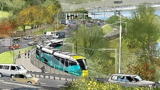 Riverline (Hobart) - Artists impression of the light railway