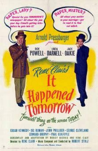 It Happened Tomorrow - Original film poster