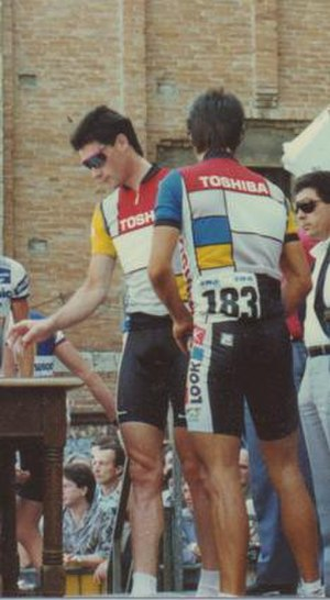 1988 Giro d'Italia, Stage 1 to Stage 11 - Image: Jean Francois Bernard Stage 11 Giro