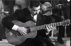 "Joseph Reinhardt - Joseph Reinhardt in 1957 (still from P. Paviot film ""Django Reinhardt"", 1957)"