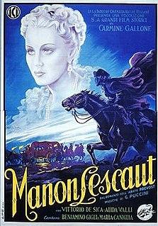 <i>Manon Lescaut</i> (1940 film) 1940 film by Carmine Gallone