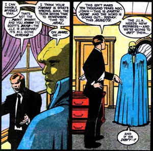 Maxwell Lord - Lord talks with the Martian Manhunter on the need for a strong League.