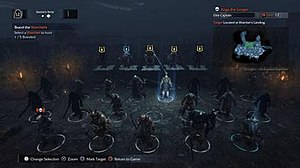 Middle-earth: Shadow of Mordor - Gameplay screenshot of Middle-Earth: Shadow of Mordor showcasing the nemesis system