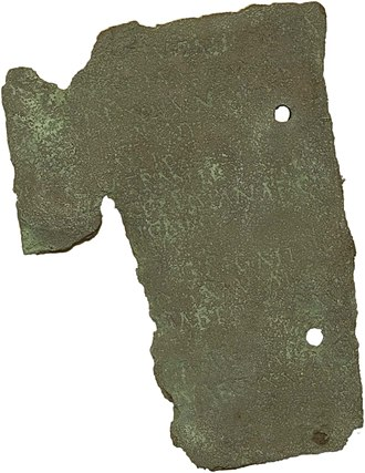 Roman Middlewich - Image: Middlewich Roman artefacts Discharge diploma