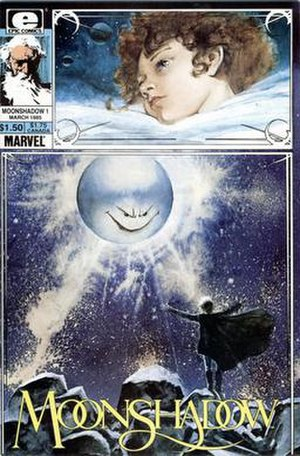 Moonshadow (comics) - Cover art for the first issue of Moonshadow, March 1985.