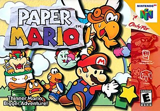 <i>Paper Mario</i> role-playing video game
