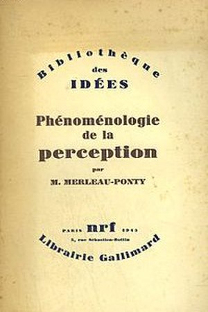 Phenomenology of Perception - Cover of the first edition