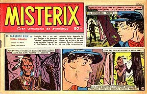 Sergeant Kirk - El Sargento Kirk on the front page of Misterix no. 345 (1955)