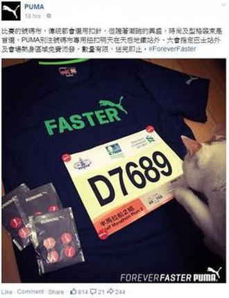 """Censorship in Hong Kong - The offending Puma entry """"D7689"""""""