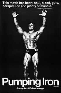 1977 docudrama about the world of bodybuilding directed by George Butler
